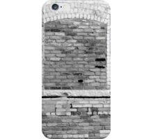 Worn Brick Wall 4 BW iPhone Case/Skin