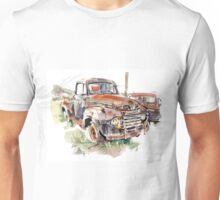 A rusty abandoned truck Unisex T-Shirt
