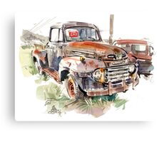 A rusty abandoned truck Canvas Print