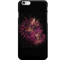 Two pink fireworks iPhone Case/Skin