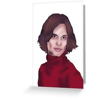Matthew Gray Gubler- Criminal Minds Greeting Card
