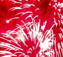 Bright red fireworks Sticker