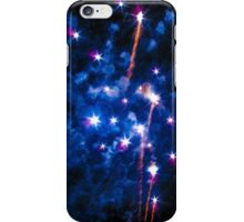 Blue explosions iPhone Case/Skin