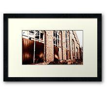 Cologne, old Railroad Buildings Framed Print