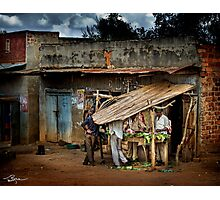 Uganda: The Butcher Shop Photographic Print