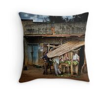 Uganda: The Butcher Shop Throw Pillow