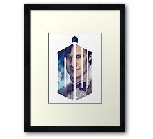 Doctor Who - Logo mash up Framed Print