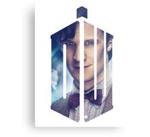 Doctor Who - Logo mash up Metal Print