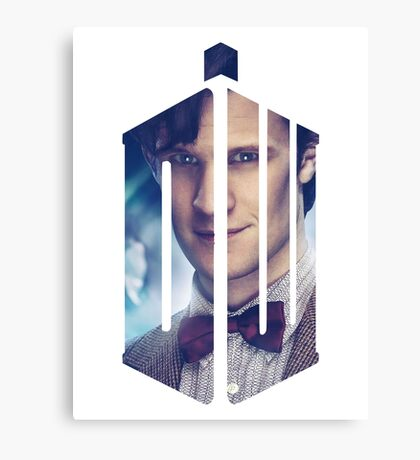 Doctor Who - Logo mash up Canvas Print