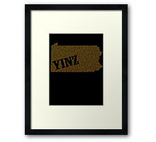 Yinz Speckled Framed Print