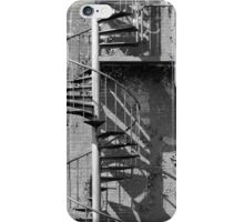 Fire Escape 3 Black and White iPhone Case/Skin