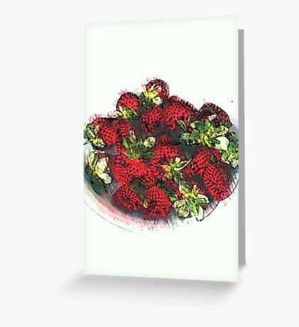 Still life ... Summer dish Greeting Card