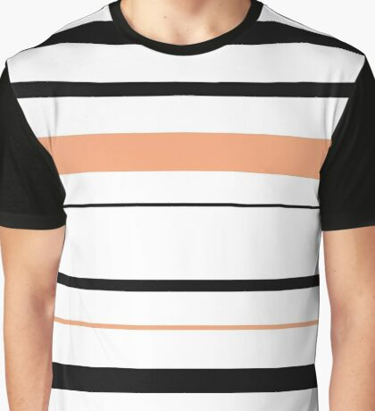 Black and Tan Stripes Graphic T-Shirt