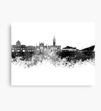 Kingston Upon Hull skyline in black watercolor Canvas Print