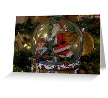 Christmas snow globe ball. Greeting Card