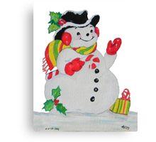 Let it SNOW man Canvas Print