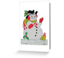 Let it SNOW man Greeting Card