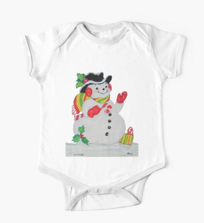 Let it SNOW man One Piece - Short Sleeve