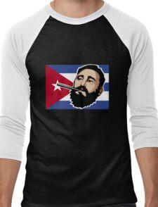 Fidel Castro Cuba Men's Baseball ¾ T-Shirt