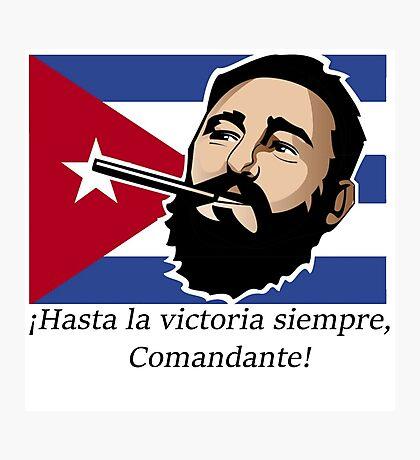 Fidel Castro Cuba Photographic Print