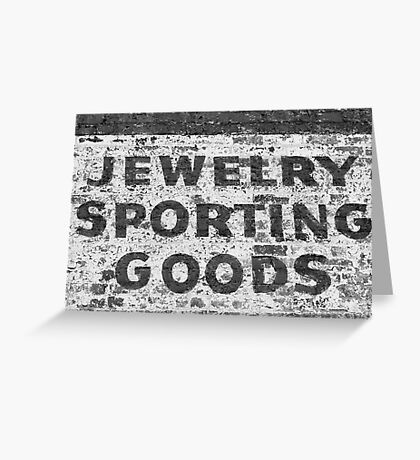 Jewelry Sporting Goods BW Greeting Card