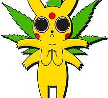 Stoned Pikachu by axadon