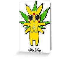 Stoned Pikachu Greeting Card