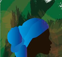 African Woman Silhouette by Thirza