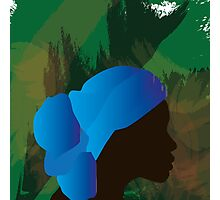 African Woman Silhouette Photographic Print