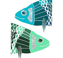 Blue Fish Green Fish by foxdesign