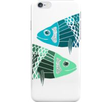 Blue Fish Green Fish iPhone Case/Skin