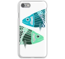 Blue Fish Green Fish iPhone Case/Skin