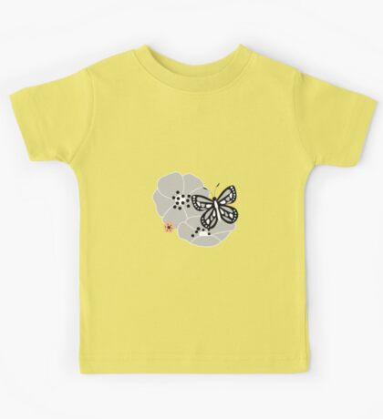 Butterflies and flowers pattern 002 Kids Tee