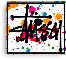 STUSSY art colors brush - limited Canvas Print