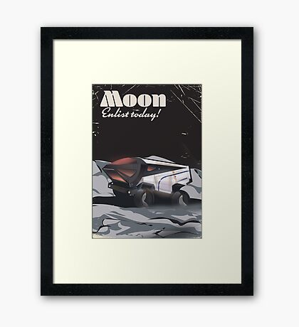 """Moon - """"Enlist Today"""" Sci-fi poster Framed Print"""