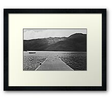Unremembered Acts Framed Print