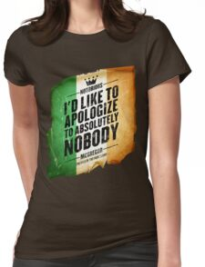 McGregor - Apologize to Nobody - TriColour Womens Fitted T-Shirt