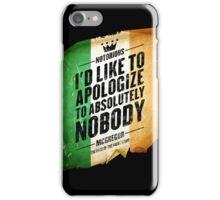 McGregor - Apologize to Nobody - TriColour iPhone Case/Skin