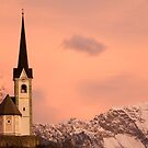 Tabor church at sunrise by Ian Middleton