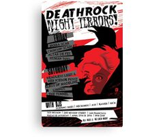 Poster for Deathrock Night Terrors I | The Birds Canvas Print