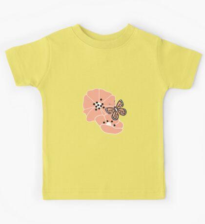 Butterflies and flowers pattern 003 Kids Tee