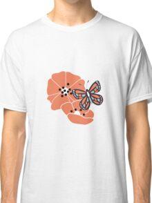 Butterflies and flowers pattern 004 Classic T-Shirt