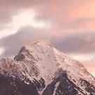 Mountain peak at sunrise by Ian Middleton