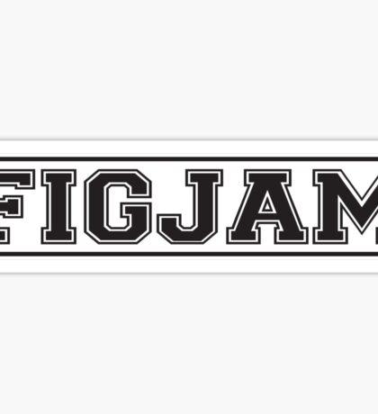FIGJAM initials for F**k I'm good just ask me funny slogan Sticker