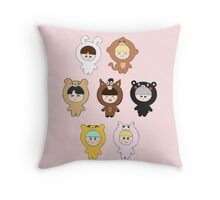 BTS plushie dolls Throw Pillow