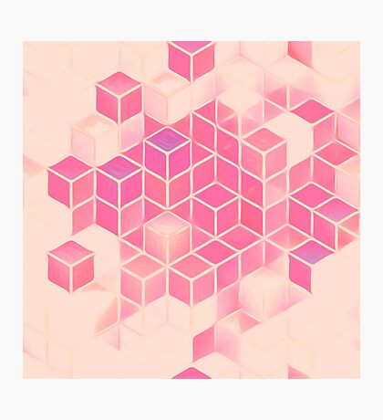 Cubes in Abstract Photographic Print