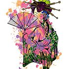 Floral Geisha by tinaodarby