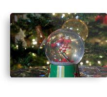Christmas snow globe ball. Metal Print