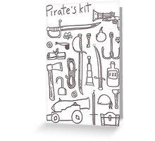 Pirate's Kit Greeting Card