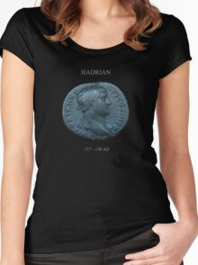 Ancient Roman Coin - EMPEROR HADRIAN Women's Fitted Scoop T-Shirt